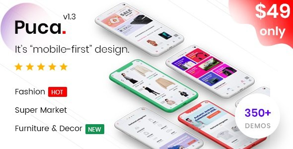 Puca - Optimized Mobile WooCommerce Theme v2.0.2