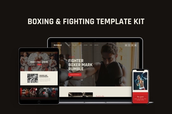 Rumble - Boxing, MMA & Fighting Elementor Template Kit