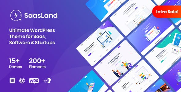 SaasLand MultiPurpose WordPress Theme for Saas and Startup v3.3.4