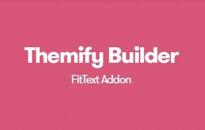 1.1.4Themify Builder FitText Addon v1.1.4