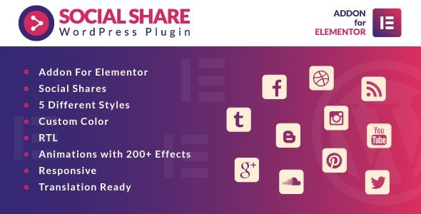 Social Share for Elementor