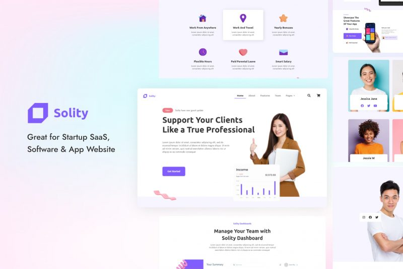 Solity - Startup SaaS Elementor Template Kit