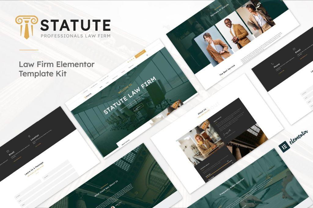 Statute - Law Firm, Lawyer & Attorney Elementor Template Kit
