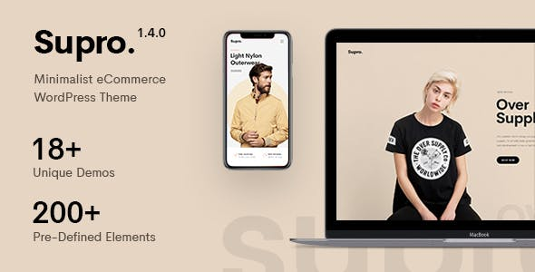 Supro - Minimalist AJAX WooCommerce WordPress Theme