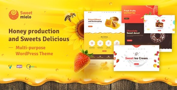 SweetMielo - Honey Production and Sweets Delicious WP Theme v1.6.6
