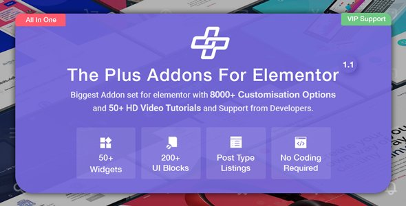 The Plus Addons for Elementor – Most Popular Elementor Addons v4.1.9