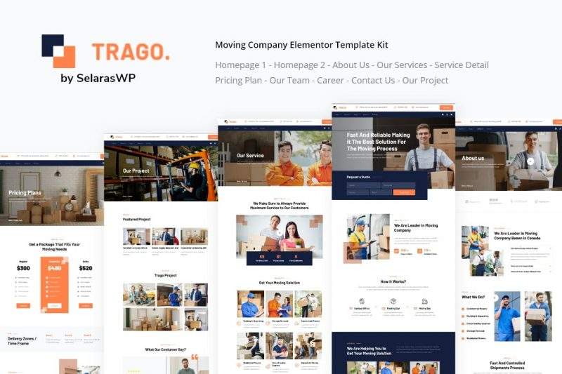 Trago - Moving Company Elementor Template Kit