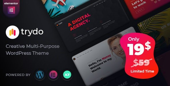 Trydo - Creative Agency & Portfolio WordPress Theme