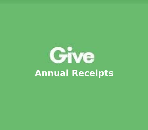 Give Annual Receipts v1.0.3