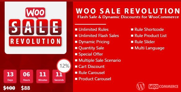 Woo Sale Revolution – Flash Sale Dynamic Discounts