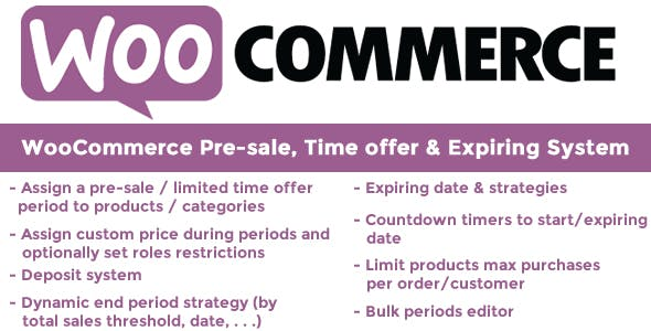 WooCommerce Pre-sale, Time offer & Expiring System