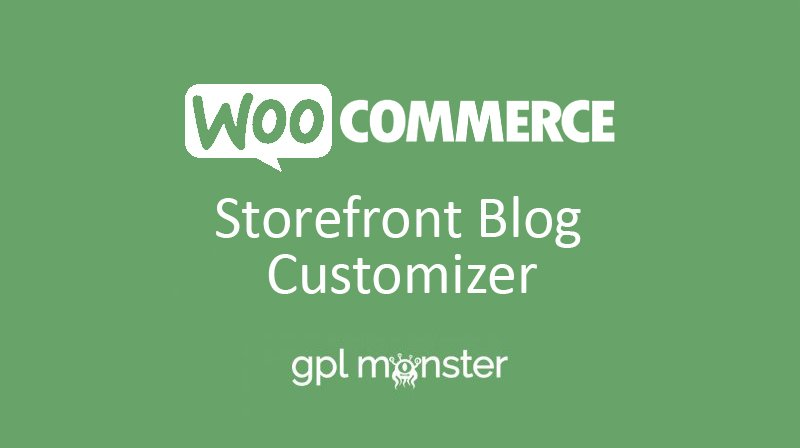 WooCommerce Storefront Blog Customizer v1.3.0