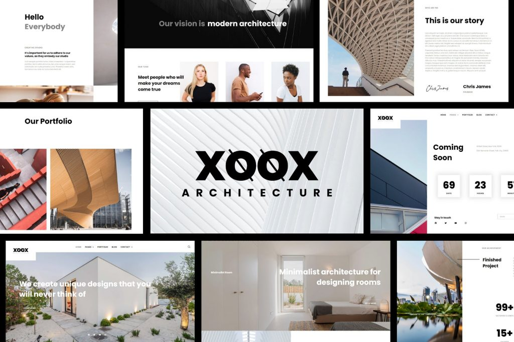XOOX - Architecture Agency Elementor Template Kit