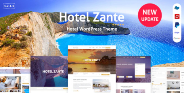 Zante - Hotel Booking Theme