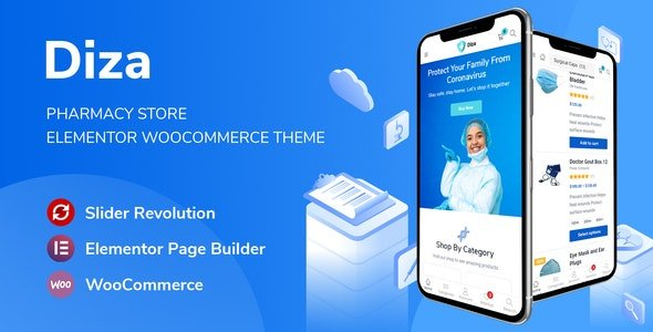 Diza - Pharmacy Store Elementor WooCommerce Theme v1.1.2