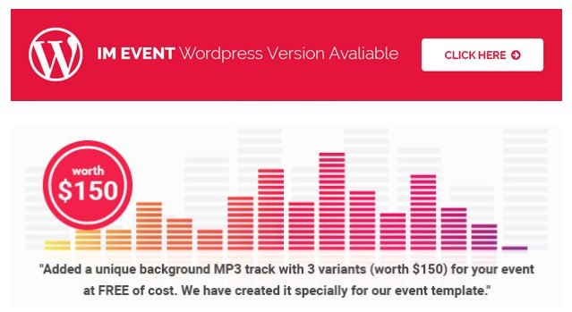 imEvent - Conference Landing Page HTML Template 2