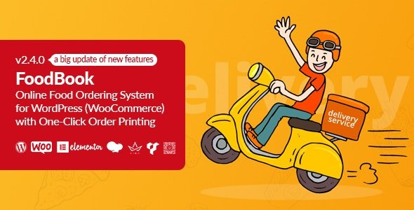 FoodBook | Online Food Ordering System for WordPress with One-Click Order Printing v3.0.0